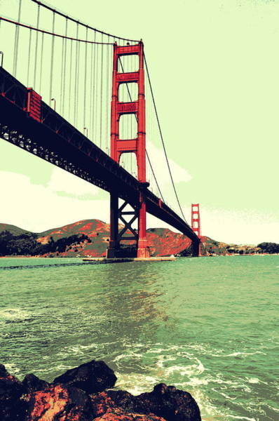 Photograph - Under The Golden Gate by Michelle Calkins