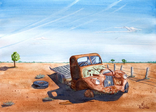 Painting - Under The Hot Australian Sun by Rich Stedman
