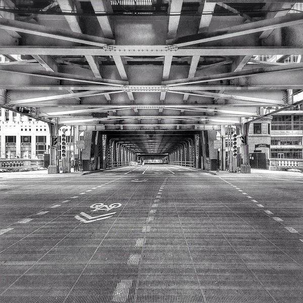 City Scenes Wall Art - Photograph - Chicago Wells Street Bridge Photo by Paul Velgos
