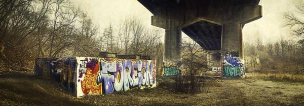Under The Locust Street Bridge Art Print