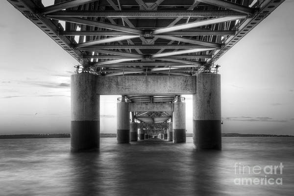 Northern Michigan Photograph - Under The Mackinac Bridge by Twenty Two North Photography