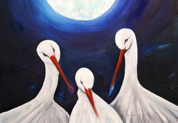 Endless Love Painting - Under The Moonlight - Forever by Misuk Jenkins