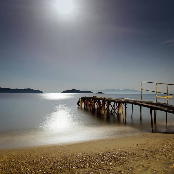 Waters Edge Wall Art - Photograph - Under The Moonlight by Marko Cvejic