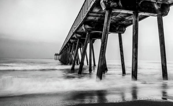 Under The Pier Photograph - Under The Pier by Bill Carson Photography