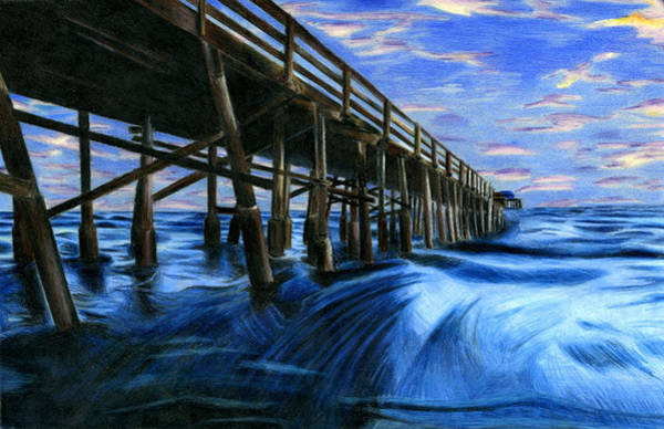 Pier Drawing - Under The Pier By Carolyn Chu 11th Grade by California Coastal Commission