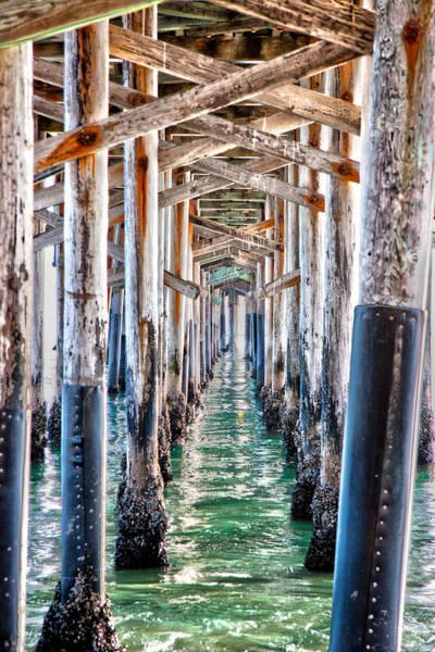 Under The Pier Photograph - Under The Pier by Chris Brannen