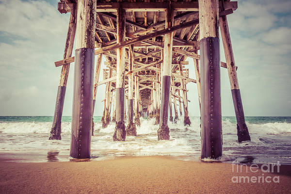 Under The Pier In Orange County California Picture Art Print