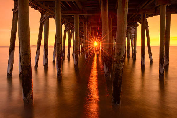 Orchard Beach Photograph - Under The Pier by Michael Blanchette