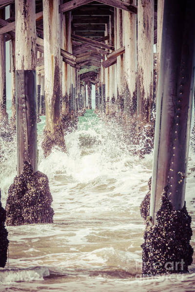 Underneath Photograph - Under The Pier Vintage California Picture by Paul Velgos