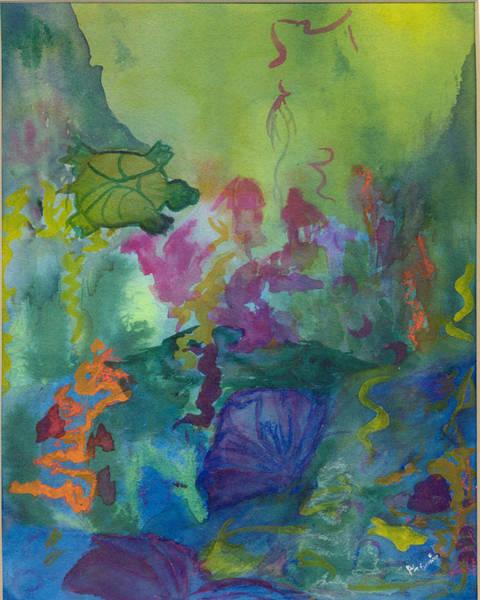 Under The Sea Art Print by Phoenix Simpson