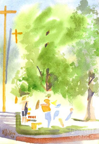 Painting - Under The Shade Trees Farmers Market Iv by Kip DeVore