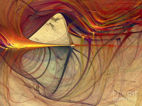 Digital Art - Under The Skin-abstract Art by Karin Kuhlmann