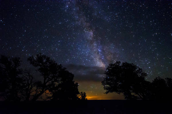 Under The Stars At The Grand Canyon  Art Print