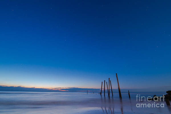 Piling Photograph - Under The Stars Ocean City Nj by Michael Ver Sprill