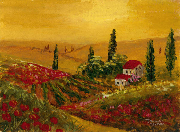 Impressionistic Vineyard Wall Art - Painting - Under The Tuscan Sun by Darice Machel McGuire