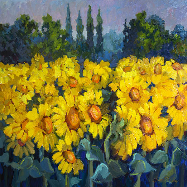 Tuscan Painting - Under Tuscan Sun by Diane McClary