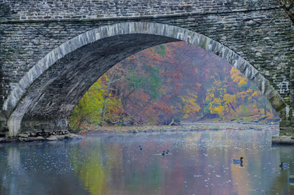 Gander Photograph - Under Valley Green Bridge In Autumn by Bill Cannon