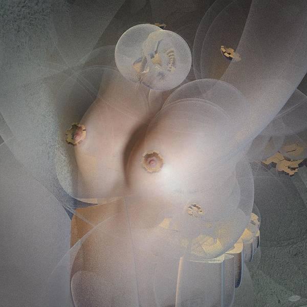 Boobies Digital Art - Under Veils by Nafets Nuarb