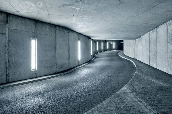 Parking Garage Photograph - Underground Parking Garage by Jorg Greuel