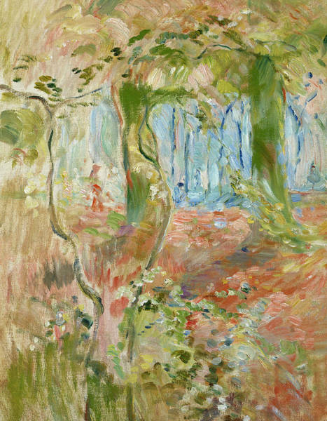 Turning Painting - Undergrowth In Autumn by Berthe Morisot