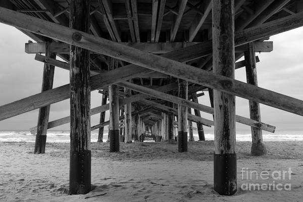 Photograph - Underneath Newport Beach Pier by Ana V Ramirez