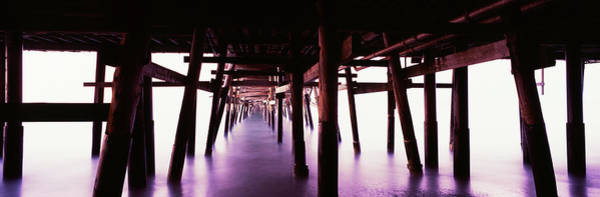 Underneath Photograph - Underneath View Of San Clemente Pier by Panoramic Images