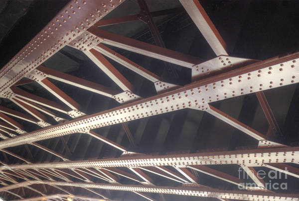Steel Beams Wall Art - Photograph - Underside Of Overpass by Jim Wright