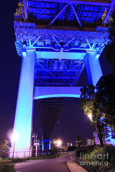 Photograph - Underside Of The Rainbow Bridge In Tokyo by Beverly Claire Kaiya