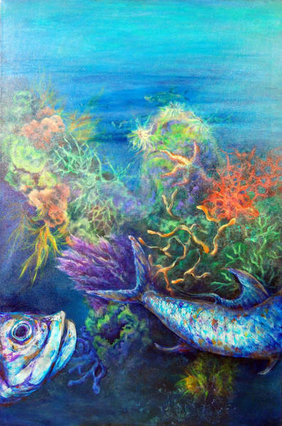 Painting - Jesus Reef  by Ashley Kujan
