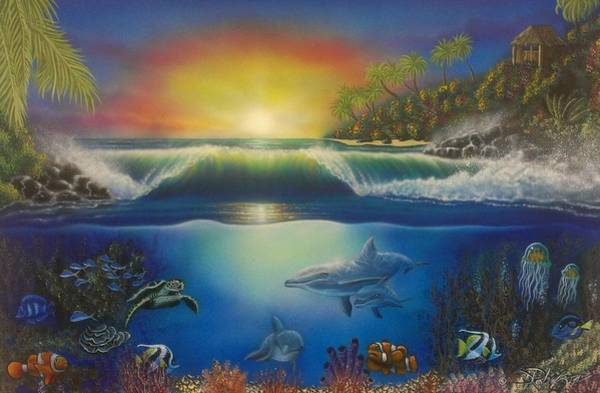 Painting - Underwater Paradise by Darren Robinson