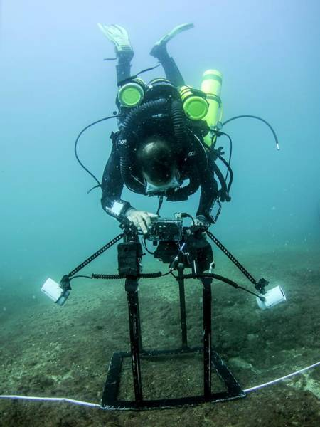 Diving Suit Photograph - Underwater Seabed Survey by Photostock-israel