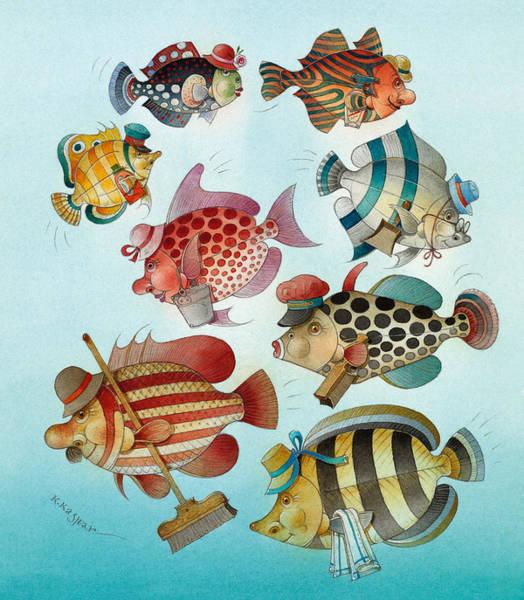 Azure Painting - Underwater Story 01 by Kestutis Kasparavicius