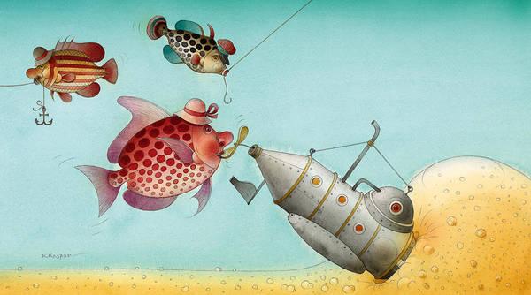 Azure Painting - Underwater Story 04 by Kestutis Kasparavicius