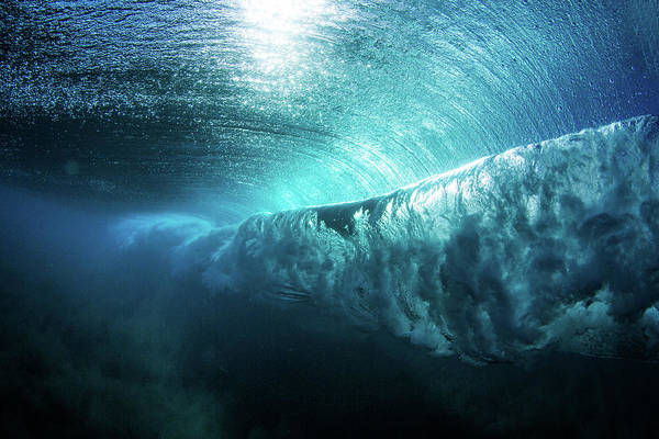 Photograph - Underwater View Of A Wave Breaking by Mattpaul