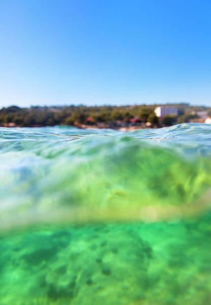Underwater Photograph - Underwater  Water Surface Shot by Piranka
