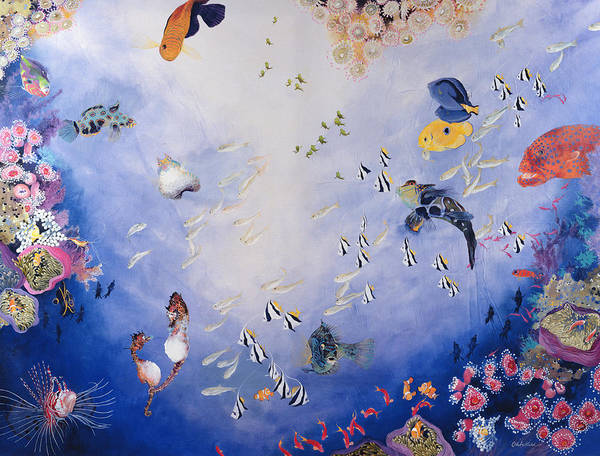 Tank Painting - Underwater World Iv  by Odile Kidd