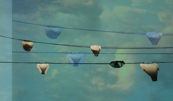 Drawers Photograph - Underwear On A Washing Line  by Jasna Buncic