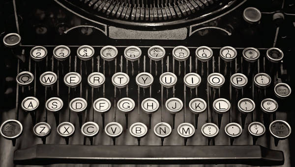 Photograph - Underwood Typewriter by Heather Applegate