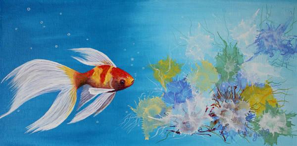 Painting - Undewater Beauty Original Acrylic Painting by Georgeta  Blanaru