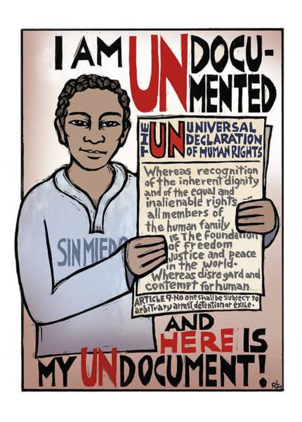 Border Mixed Media - Undocumented by Ricardo Levins Morales
