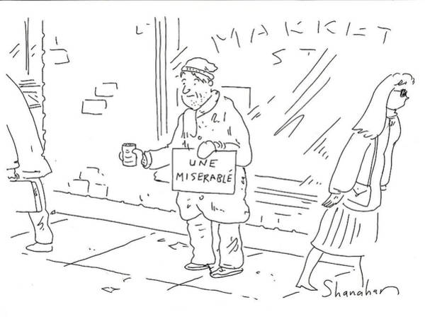 Miserable Drawing - Une Miserable by Danny Shanahan