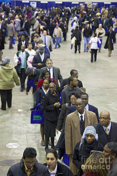 Photograph - Unemployed At A Job Fair by Jim West