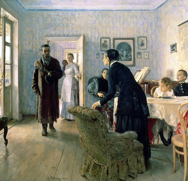 Grand Piano Photograph - Unexpected, 1884-88 Oil On Canvas by Ilya Efimovich Repin