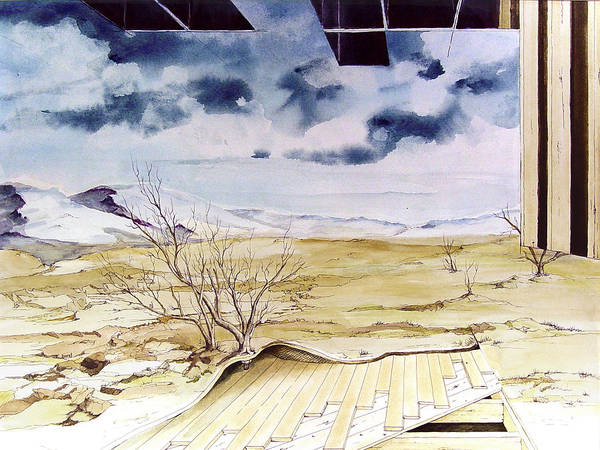 Construction Painting - Unfinished Landscape by Sam Sidders