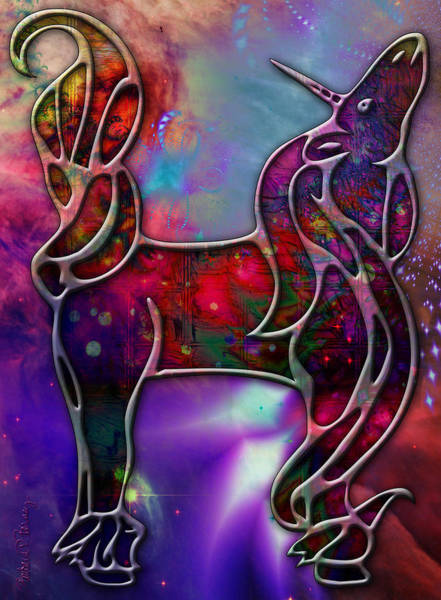 Digital Art - Unicorn by Barbara Berney