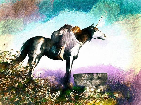 Painting - Unicorn Embrace by Bob Orsillo