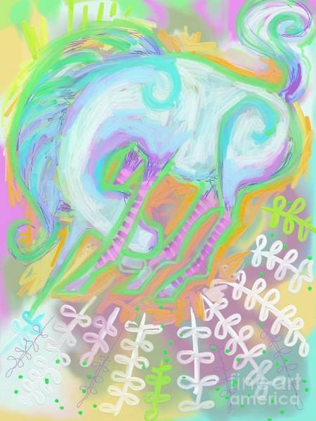 Spark Painting - Unicorn I by Kimberly Santini