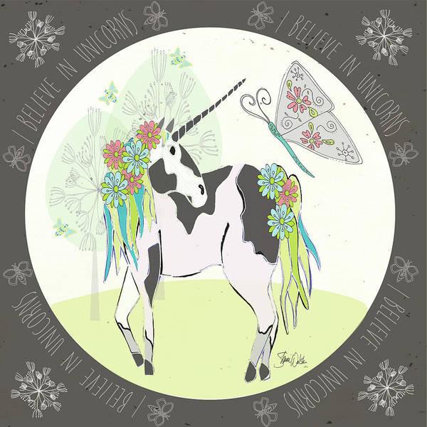 Unicorn Wall Art - Painting - Unicorn II by Shanni Welsh