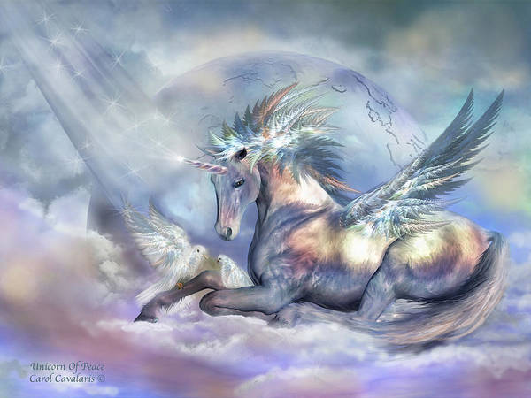 Unicorn Of Peace Art Print