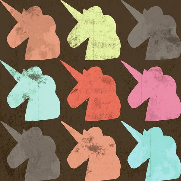 Unicorn Wall Art - Painting - Unicorn Silhouettes I by Lisa Barbero